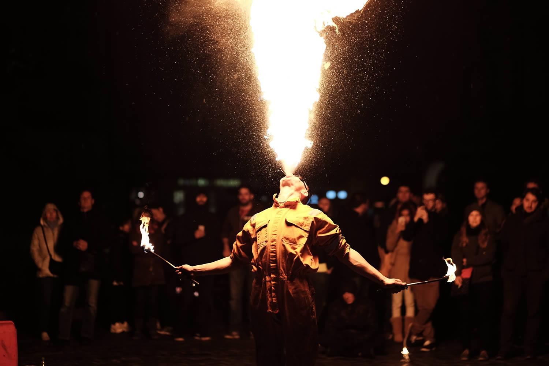 Breathe fire like a dragon - team building event